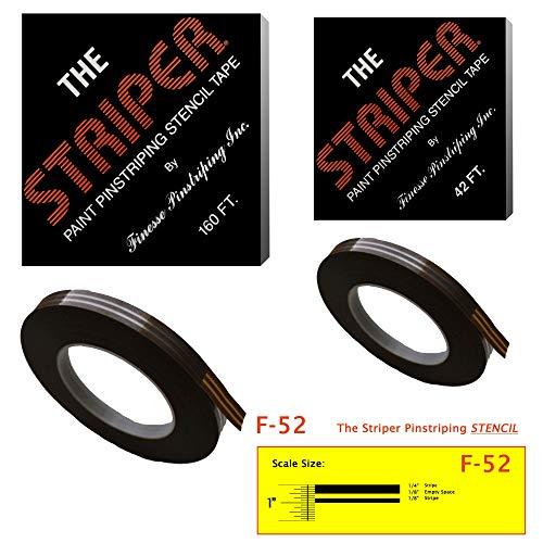 The Striper Paint Pinstriping Stencil Tape – Pinstripe Your Car/Truck   Striper: F-52   Results: 1/4″ Stripe, 1/8″ Space, 1/8″ Stripe (160 Foot roll)