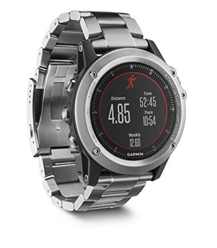Garmin Fēnix 3 Sapphire Gray HR - Montre GPS Multisports Outdoor Cardio Poignet - Bracelet Noir Titane Argent