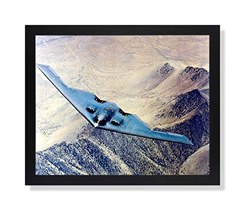 - B2 Stealth Bomber Jet Airplane Picture Black Framed Art Print