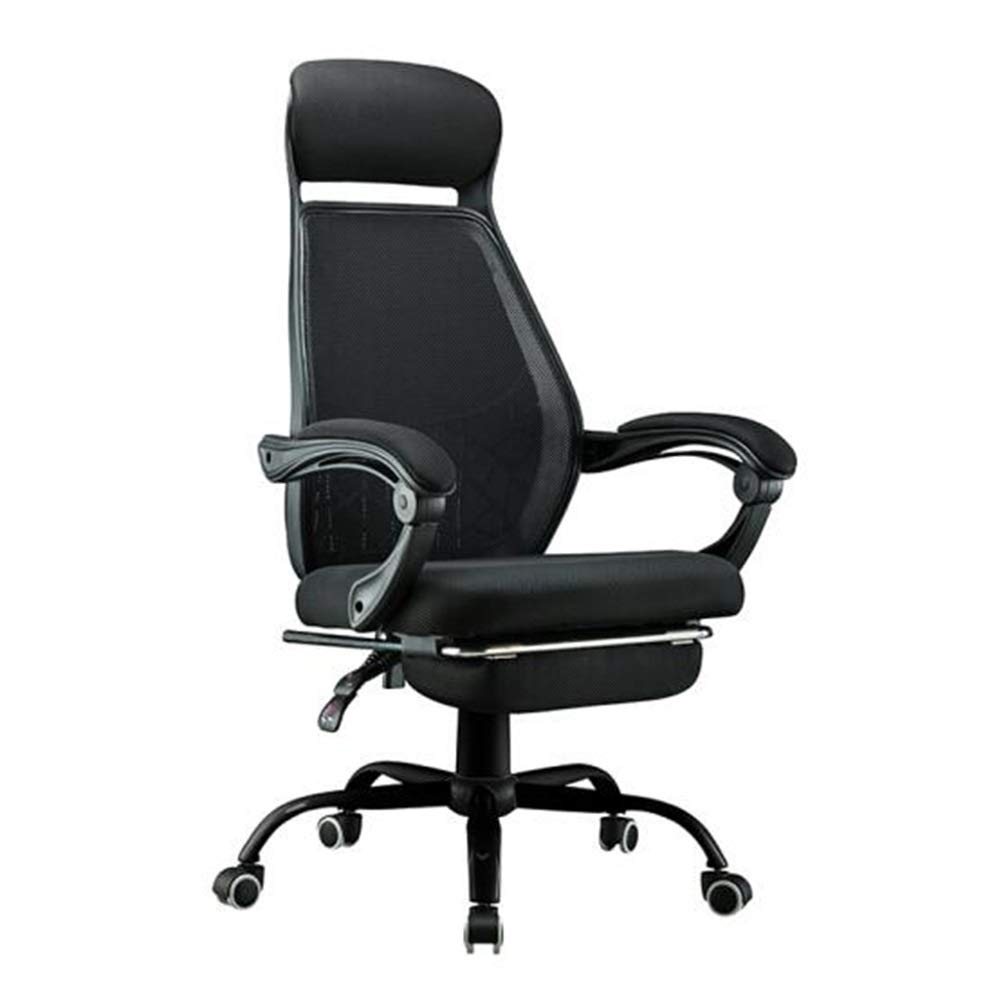 Chairs CJC Swivel Ergonomic Mesh Task High Back Padded Office Desk Head Support Height Adjustable (Color : Black)