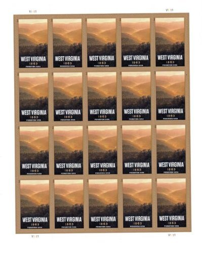 West Virginia Statehood 20 x forever U.S. Postage Stamps New Mint