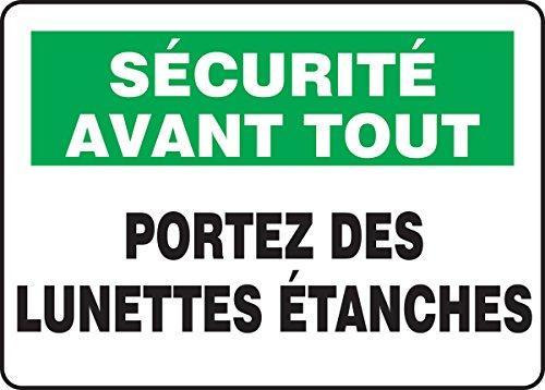 SÉCURITÉ AVANT TOUT PORTEZ DES LUNETTES ÉTANCHES - French Lunettes