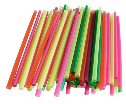 Assorted Color Small Straws-200 Pieces