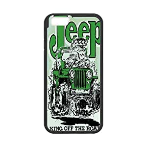 {Jeep Series} IPhone 6S Cases Jeep,king off the Road, Case Bloomingbluerose - Black