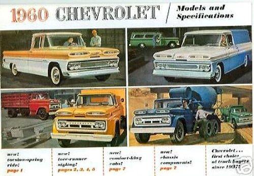 1960 CHEVROLET PICKUP & TRUCK DEALERSHIP SALES BROCHURE - CHEVY ADVERTISMENT LITERATURE 60