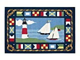 Area Rugs Kitchen Rugs Indoor Outdoor Claire Murray Washable Rugs 30×46″ Sailboats