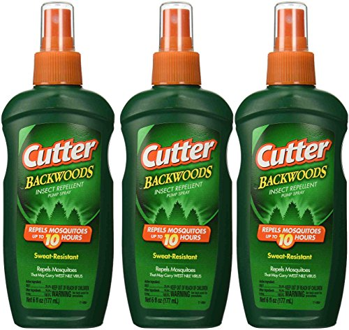 Cutter Backwoods Insect Repellent 25-Percent DEET Pump Spray, 6-Ounce (Pack of 3)
