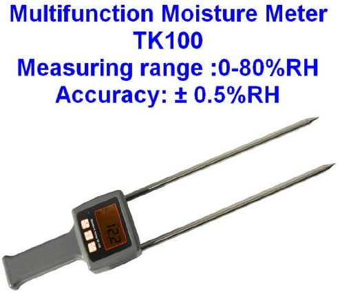 Tk100 Multfunctional Moisture Meter, for Hay, Straw, Bran, Fiber