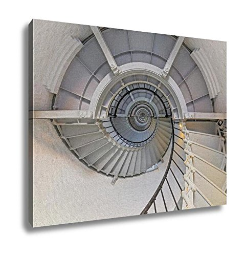 Ashley Canvas Going Up Lighthouse Interior Daytona A Spiral Staircase Winds To The Top Of Floridas Tallest Lighthouse The Ponce De Leon Inlet Light South Of Daytona Beach 16x20 (South Beach Wine)
