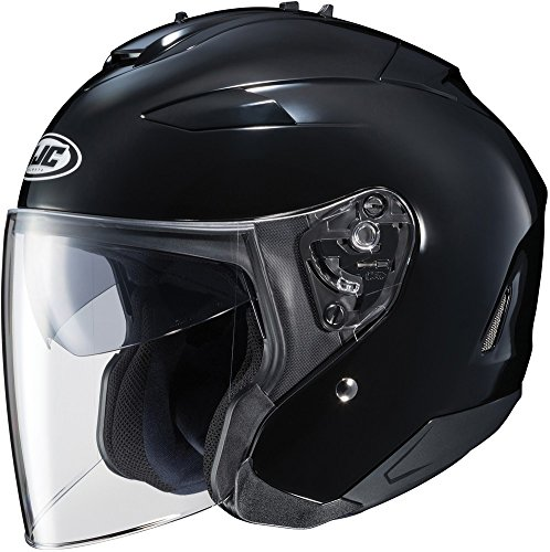 - HJC IS-33 II Open-Face Motorcycle Helmet (Black, X-Large)