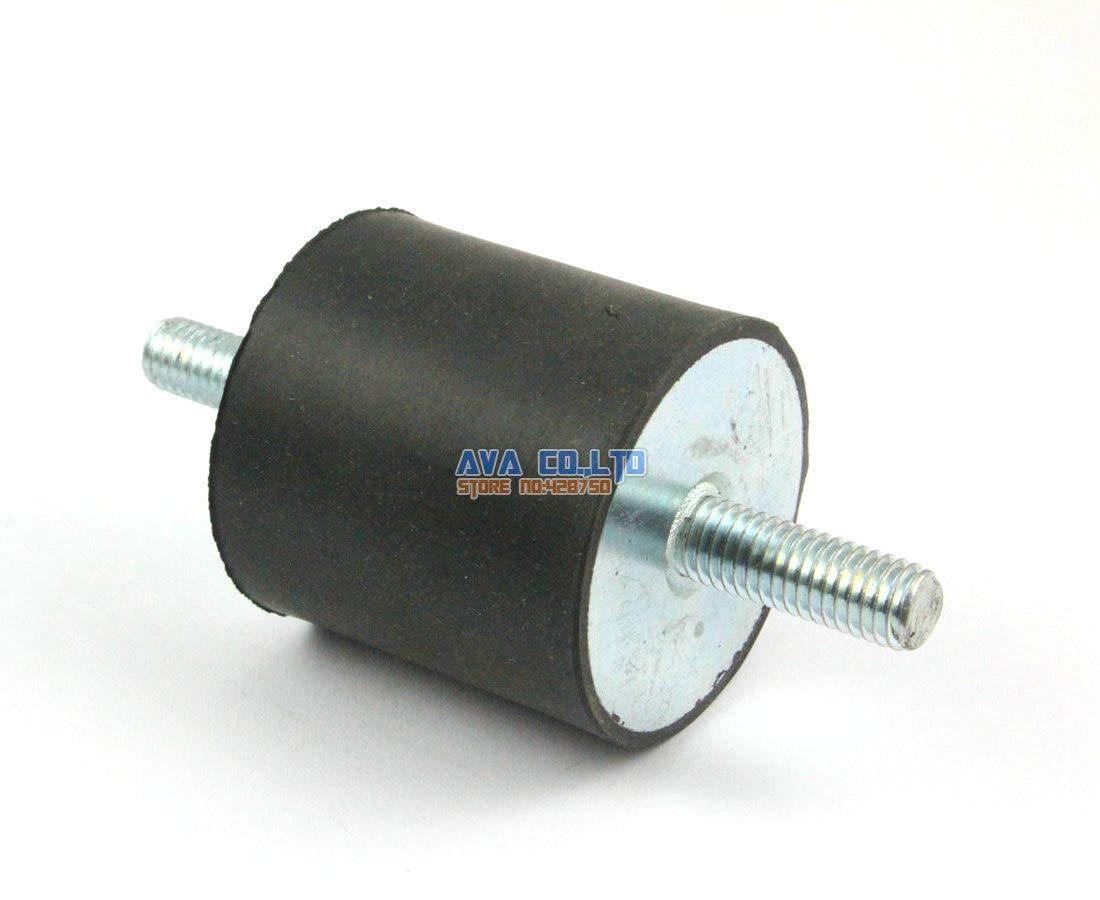 Ochoos 2 Pieces 4040mm M823mm Double End Male Rubber Anti Vibration Mount Bobbin Isolator