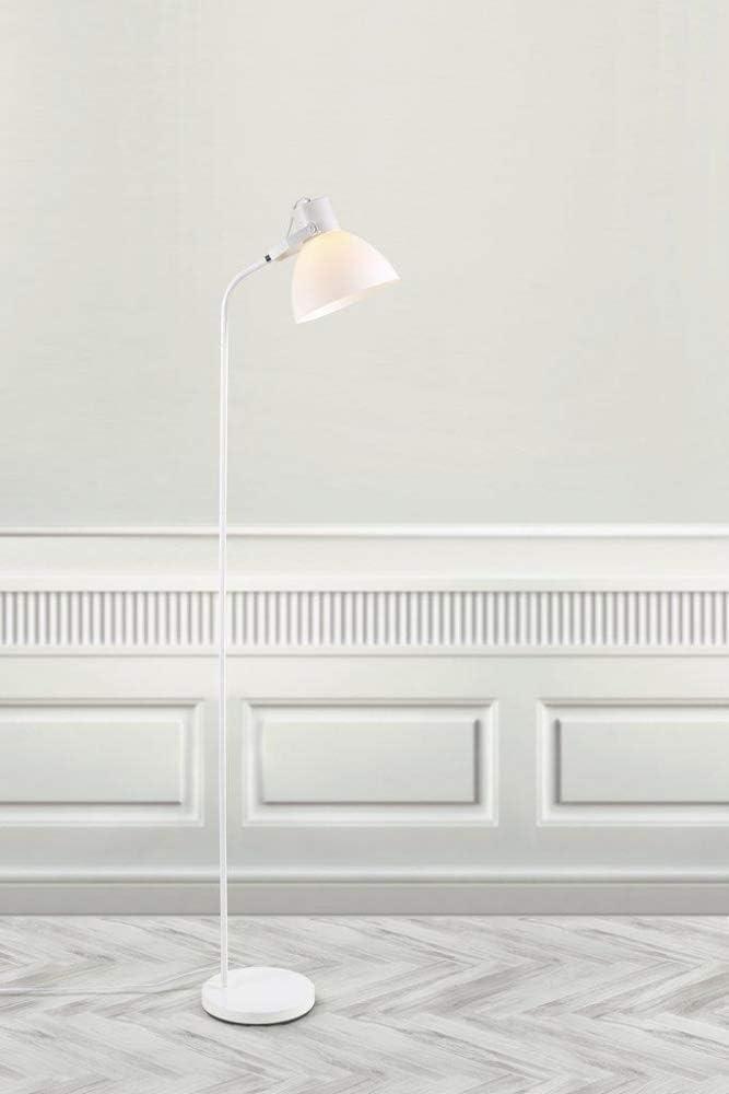 colore: Bianco max 60 W Lampada a stelo in metallo//plastica H170 D22,5 cm E27 Nordlux CLAYTON