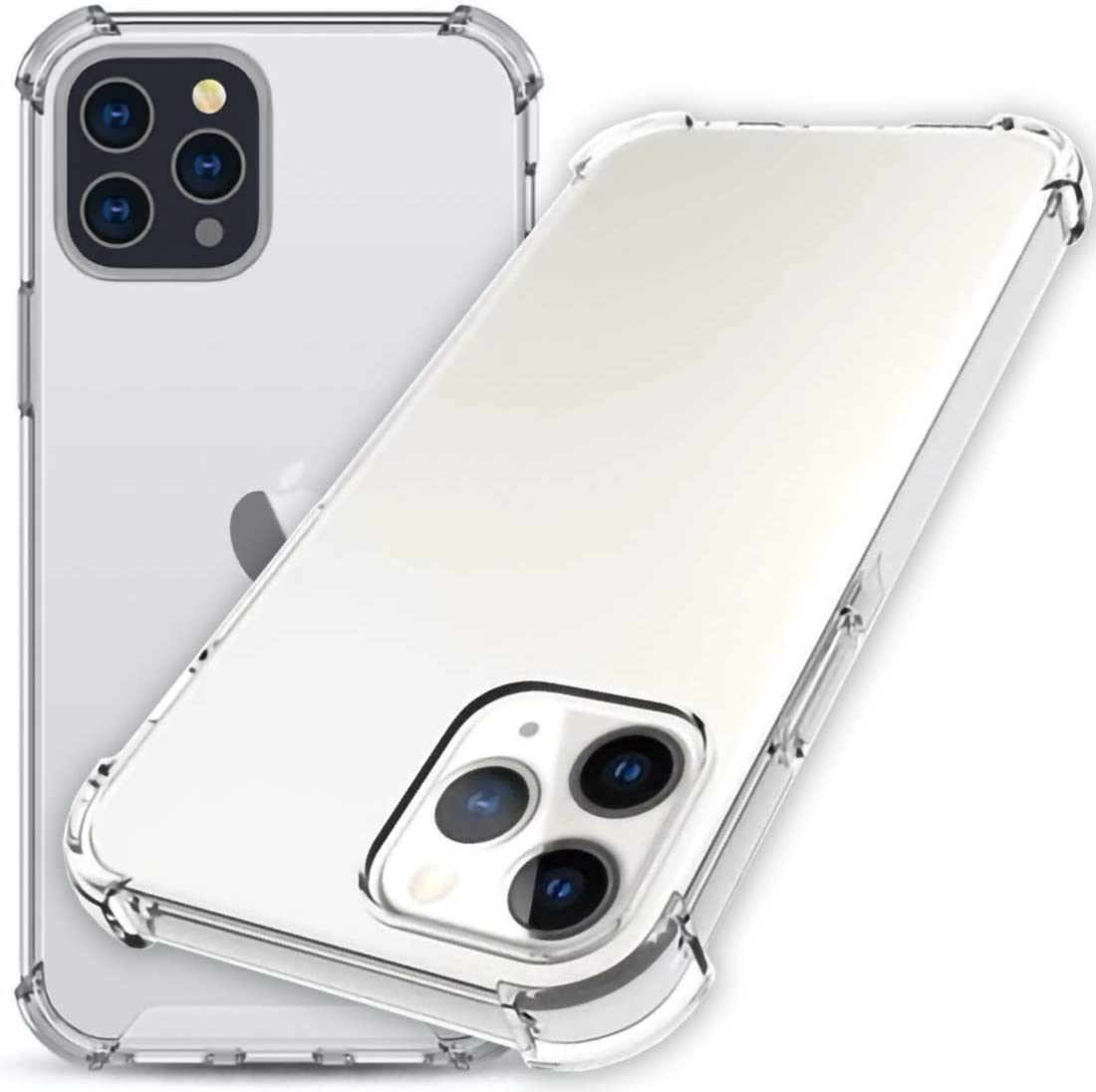 """Wild Tiger Collection Case Compatible with New iPhone 12 / Pro 6.1 Inch [Shockproof Clear Case] Drop Protection Air Corner Bumper & Anti-Scratch [Screen Protector Friendly] (iPhone 12 / Pro 6.1"""")"""