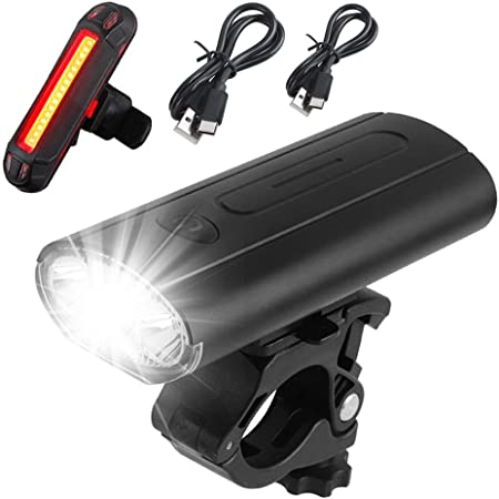 Rechargeable Front Rear MTB Bicycle Cycling USB Lights 4 Modes LED Tail Lamp UK