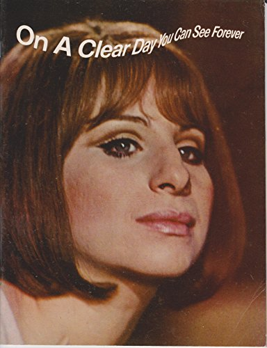 On A Clear Day You Can See Forever Barbra Streisand 1970 Original Movie Program - NOT A DVD