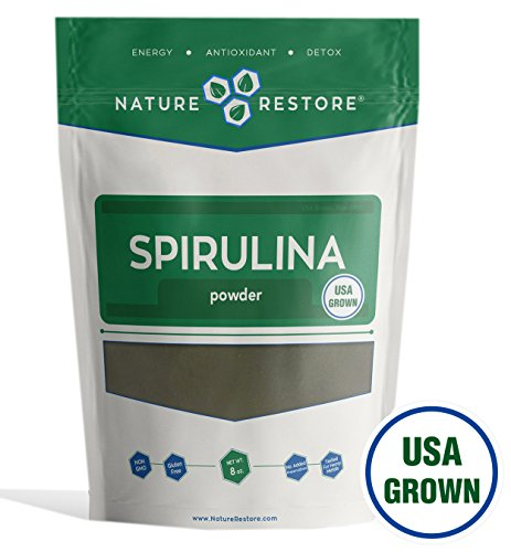 Nature Restore Spirulina Powder, California Grown and Harvested, 8 Ounces, Non-GMO Review