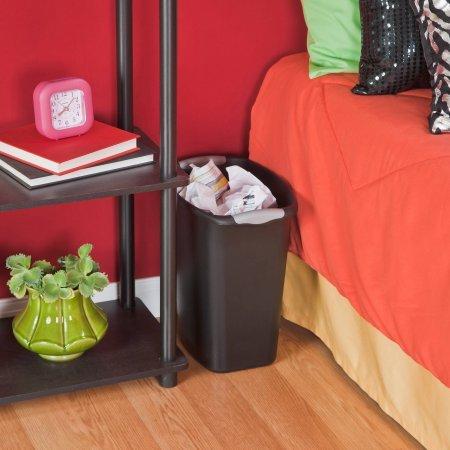 Sterilite Ultra 3 Gallon Wastebasket- Black, Case of 6