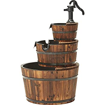 Kotulas 3-Tier Wooden Water Fountain with Pump