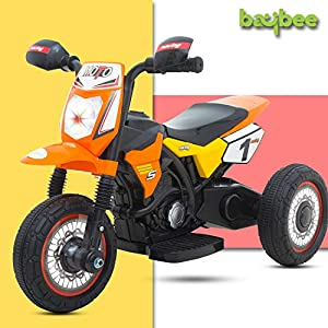 Baybee Enduro Battery Operated Ride On Bike for Kids/Toddler Bikes for Babies/Children Bike-Kids Bike for boy-Baby Bike…