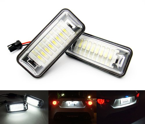 2x LED Licence Number Plate Light White Canbus For 2011-up BRZ Impreza WRX STI Legacy MKV XV FR-S GT 86 RZG