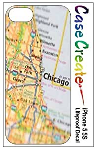 Chicago Road Map Decorative Sticker Decal for your iPhone 5 5S Lifeproof Case by icecream design