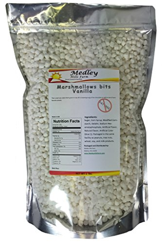 Medley Hills Farm Fat Free Marshmallow bits Vanilla Flavor Dehydrated Marshmallows 1 lb by Medley Hills Farm