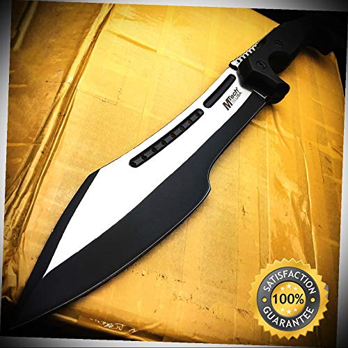 - 16'' HUNTING SURVIVAL RAMBO FIXED BLADE MACHETE KNIFE Camping Axe Sword - Outdoor For Camping Hunting