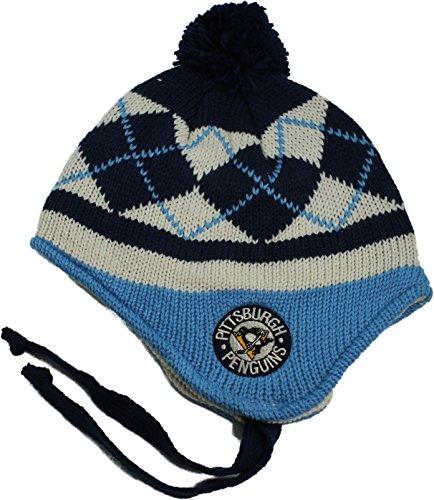 Ccm Vintage Cap - NHL CCM Vintage Pittsburgh Penguins POM Knit Beanie with ear flaps Beanie