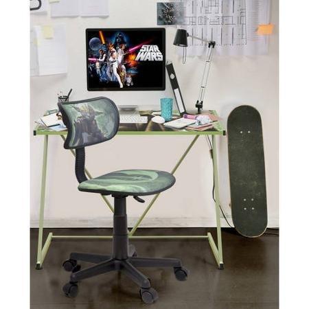 Star Wars Yoda Sturdy Z Metal Desk, 28''L x 16''W x 16''H