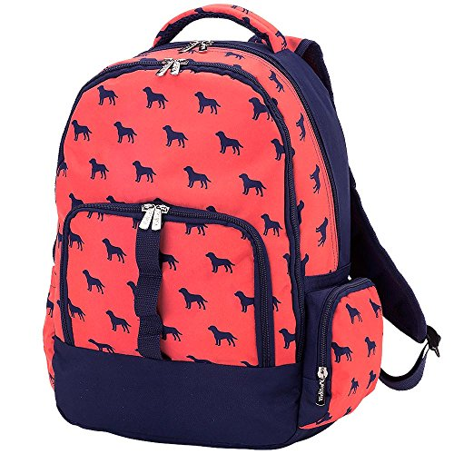Dog Days Kids School Backpack with Laptop Sleeve (Plain) by Viv & Lou