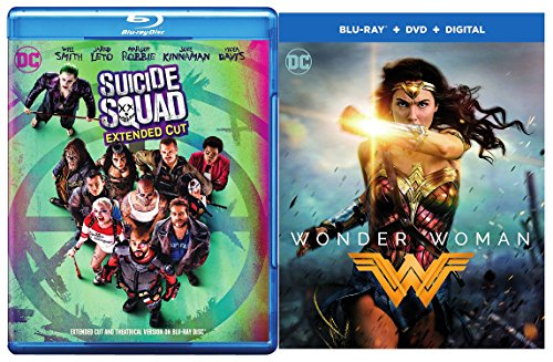 DCU 2-Movie Bundle - Suicide Squad (DVD + Blu-ray + Digital) & Wonder Woman (DVD + Blu-ray + Digital) 2-Movie Bundle