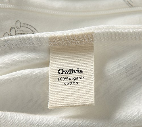 Owlivia Organic Cotton Baby Boy Girl Zip Front Sleep 'N Play, Footed Sleeper, Long Sleeve (Size 0-18 Month)(0-3Months,Mushroom)