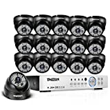 TMEZON 16-Channel HD DVR Security System with 16 2MP IR Outdoor Weatherproof Dome Cameras Remote Surveillance NO HDD Review