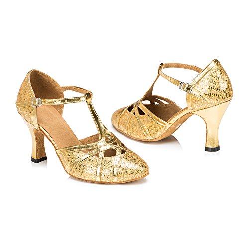 Zapatillas Dorado De Mujer Plateado Danza Para Misu Plata 4qwB4d