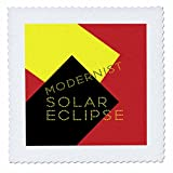 3dRose Alexis Design - Art - Modernist Solar Eclipse Art - 12x12 inch quilt square (qs_271749_4)