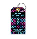 Dynotag Web Enabled Smart ID Tag, PROTAGZ Series MEGA Size Luggage Tag w. Double Steel Loops with DynoIQ & Lifetime Recovery Service (NightLight)
