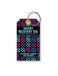Dynotag® PROTAGZ series Web/GPS Enabled QR Smart MEGA Luggage Tag w. Double Steel Loops - in Six Designs (Night Light)