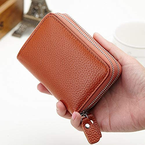 Color: Leahter ROSEO Gimax Card /& ID Holders Multi Credit Plastic Card Holder Case Place Casual Teenage for Women Men Money Wallet Student Vintage Purse Zipper Coin Pocket
