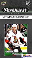 Ottawa Senators 2017/18 Upper Deck Parkhurst NHL Hockey EXCLUSIVE Limited Edition Factory Sealed 10 Card Team Set including Erik Karlsson, Logan Brown Rookie & all the Top Stars & RC's ! WOWZZER!