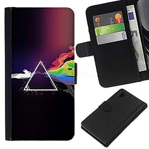 NEECELL GIFT forCITY // Billetera de cuero Caso Cubierta de protección Carcasa / Leather Wallet Case for Sony Xperia Z1 L39 // Conejos coloridos