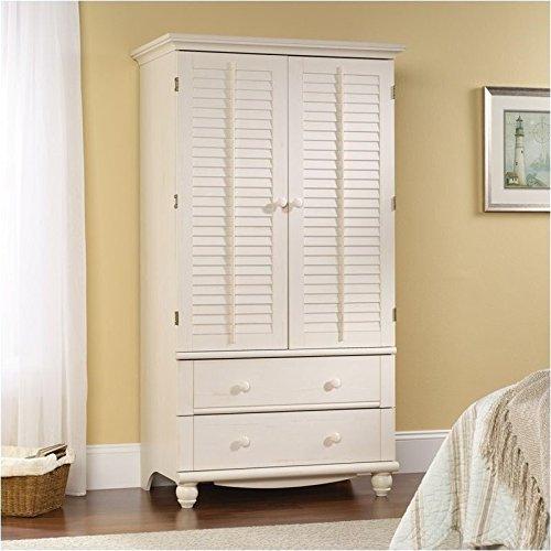 sauder-158036-antiqued-white-finish-harbor-view-armoire