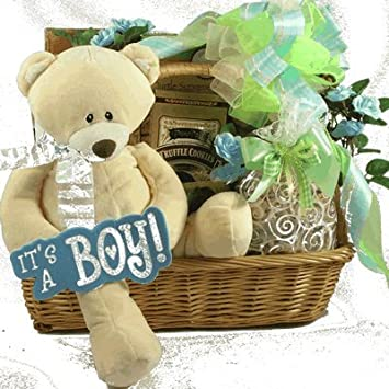 Amazon.com : The Happy New Parents Baby Boy Gift Basket : Baby