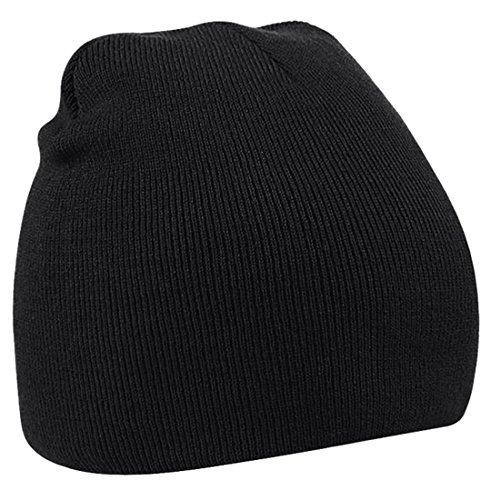 XQS Unisex Winter Warm Hat Toboggan Knitted Chunky Skully Beanie Black