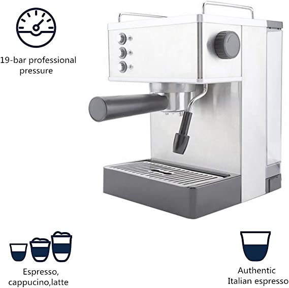 Cafetera De Acero Inoxidable, Máquina De Café Espresso De Acero ...