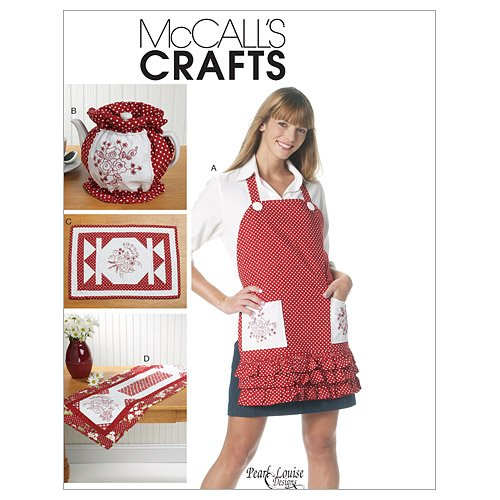 McCall's Patterns M6300 Apron, Tea Cozy, Placemat and Runner (Mccalls Placemat)