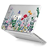 GMYLE Clear Transparent Crystal Glossy Plastic Hard Case Cover for Old MacBook Pro 13 Inch with Retina Display No CD-Rom (A1502/A1425, Version 2015/2014/2013/end 2012), Springtime Floral Garden