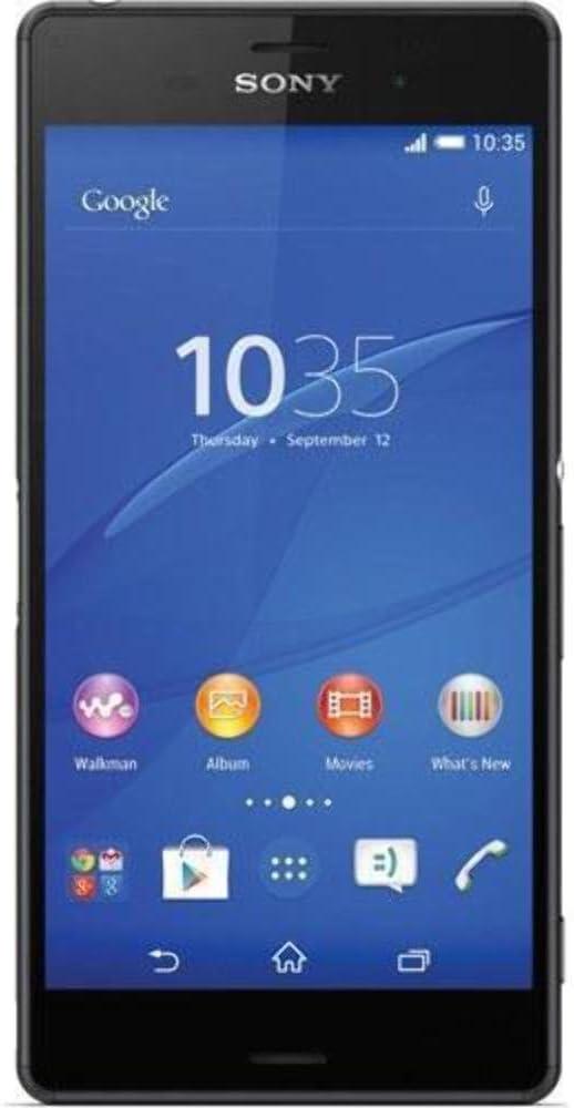 Amazon Com Sony Xperia Z3 D6653 Gsm Cellphone Unlocked International Version No Warranty Black