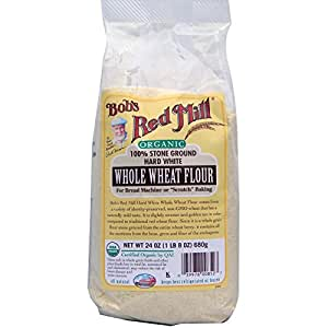 Amazon.com: Organic Hard White Whole Wheat Flour, 24 oz