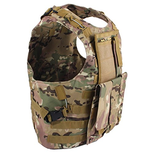 Dlp Tactical Marinus Cable Releasable Molle Vest With Three Pouches  Multicam