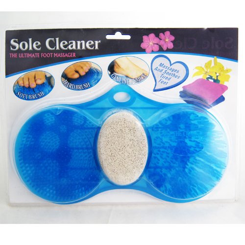 Foot Massager Scrubber Sole Scrub Cleaner Feet Pedicure P...